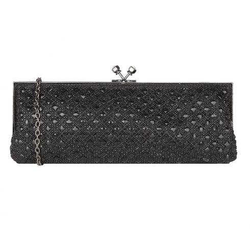 Lotus Zilar Diamante Front Clutch Bag - Black - 1707