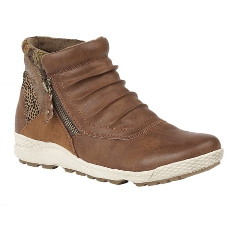 Lotus Relife by Lotus Bowler Tan Ankle Boots