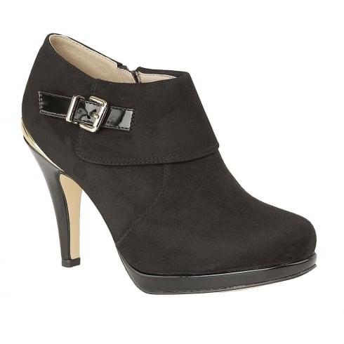 Lotus Vollmer Black Microfiber Shoe Boots