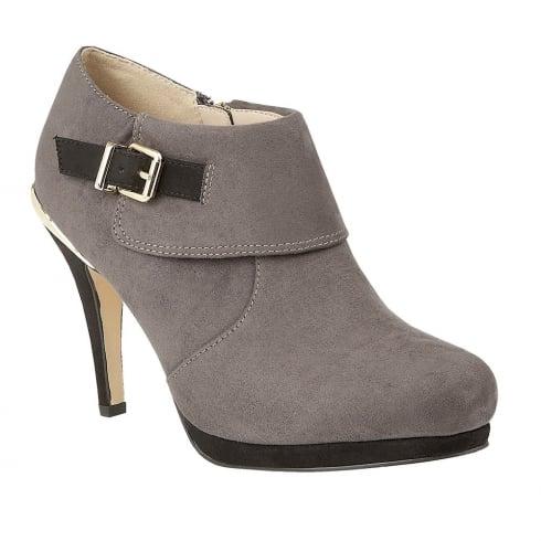 Lotus Vollmer Grey Microfiber Shoe Boot