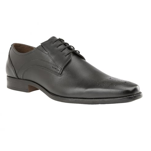 Lotus Birkdale Black Leather Lace Up Smart Shoes