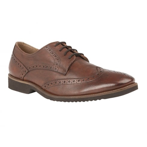 Lotus Mens Newing Brown Leather Lace Up Shoes