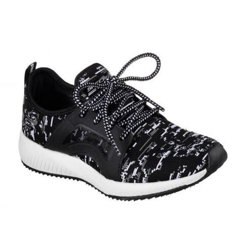 Skechers Womens BOBS Squad Double Dare Black Sneakers