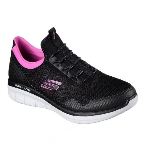 Skechers Womens Synergy Mirror Image Black/Pink Sneakers