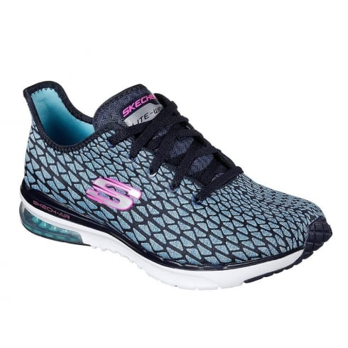 Skechers Womens Skech-Air Infinity Free Fallin Blue Sneakers