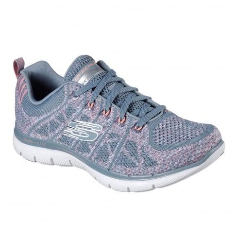 Skechers Womens Flex Appeal 2.0 New Gem Grey Sneakers