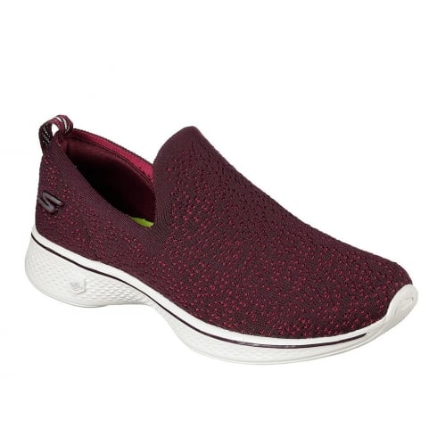Skechers Womens GOwalk 4 Gifted Burgundy Sneakers