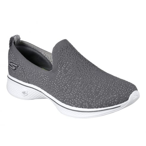 Skechers Womens GOwalk 4 Gifted Grey Sneakers