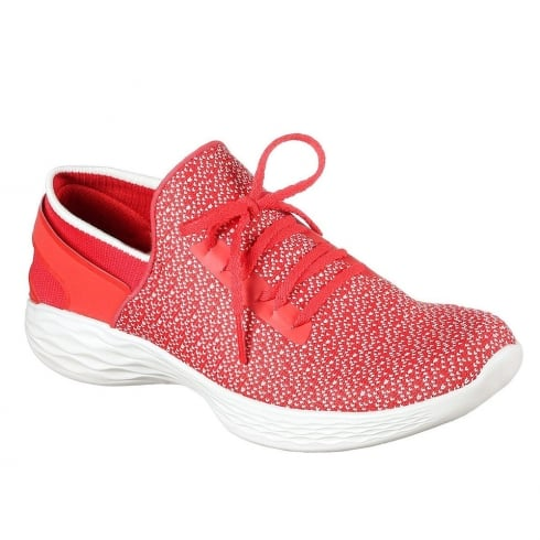 Skechers Womens YOU Inspire Red Sneakers