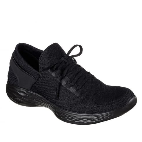 Skechers Womens YOU Inspire Black Sneakers