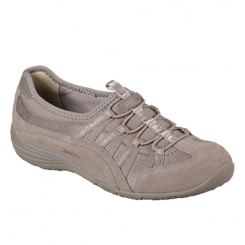 Skechers Womens Unity Beaming Taupe Suede Sneakers