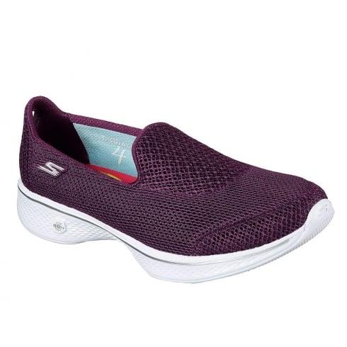 Skechers Womens GOwalk 4 Propel Purple Sneakers