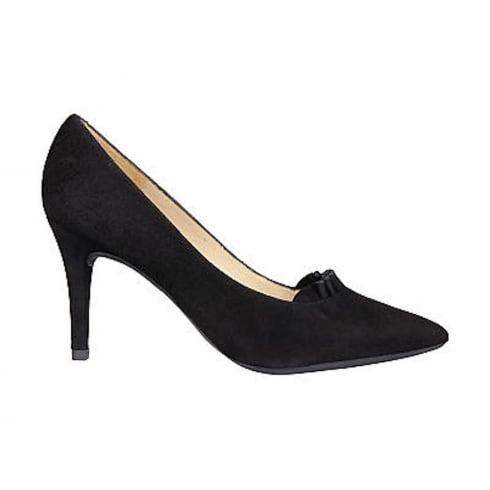 Unisa Treno Black Stiletto Heel Court Shoes