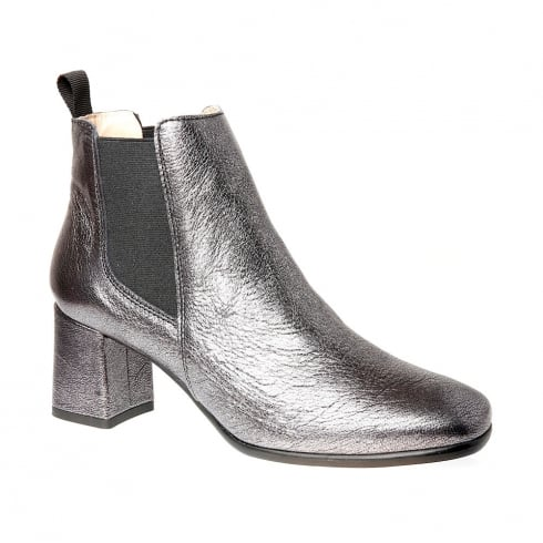 Nicola Sexton Pewter Block Heeled Ankle Boots