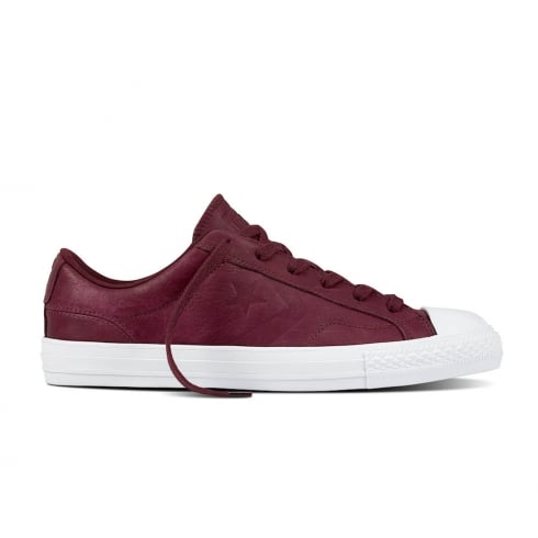 Converse Star Player Leather Ox Sangria Lace Up Sneakers