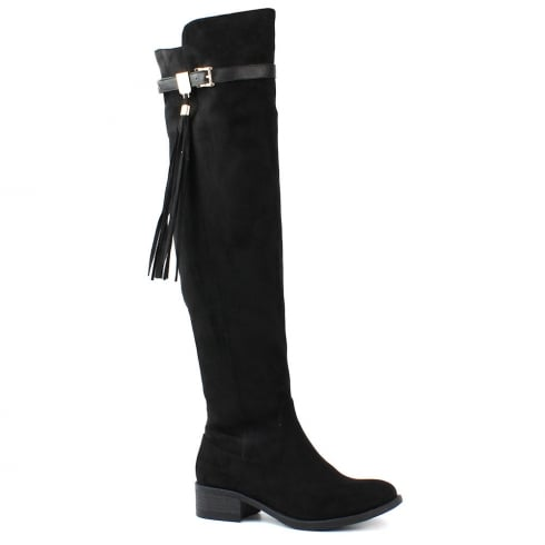XTI Womens Over The Knee Black Boots