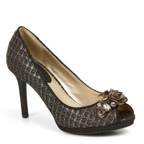 Ruby Shoo Sonia Glittering Heels - Bronze