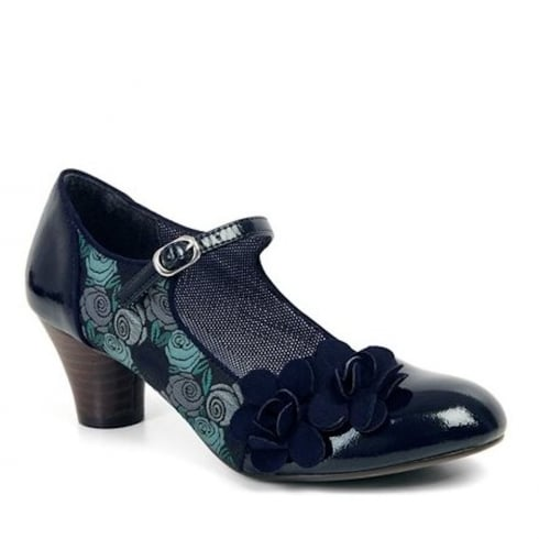 Ruby Shoo Freya Mid Heeled Court Shoe - Blue