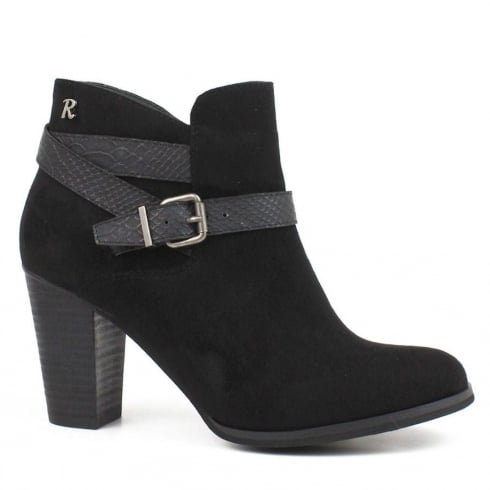 Refresh Black Heeled Ankle Boot