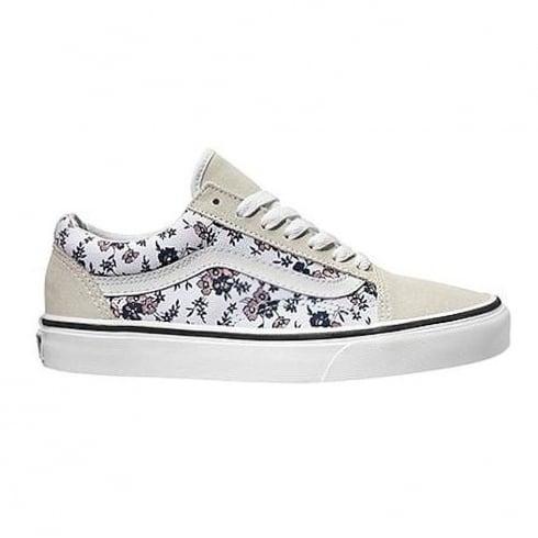 Vans Womens Old Skool Ditsy Bloom True White Shoes