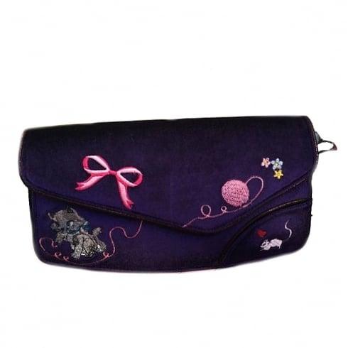 Irregular Choice Kitty Love Purple Clutch