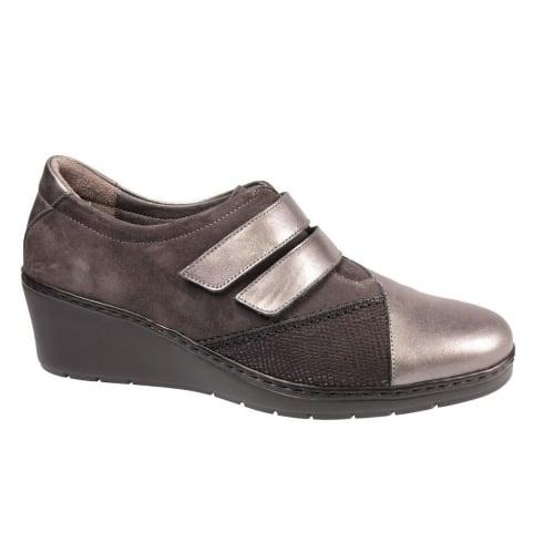 Notton Womens Casual Velcro Wedge Shoe