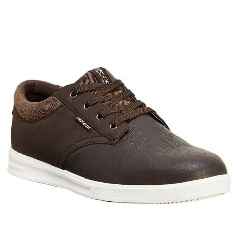 Jack & Jones Mens Casual Dark Brown Sneakers