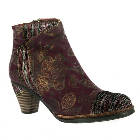 Laura Vita Womens Alizze Wine Ankle Boots