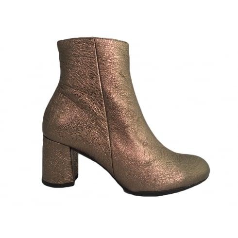 Wonders I-6833 Wonders Bronze Metallic Ankle Boot