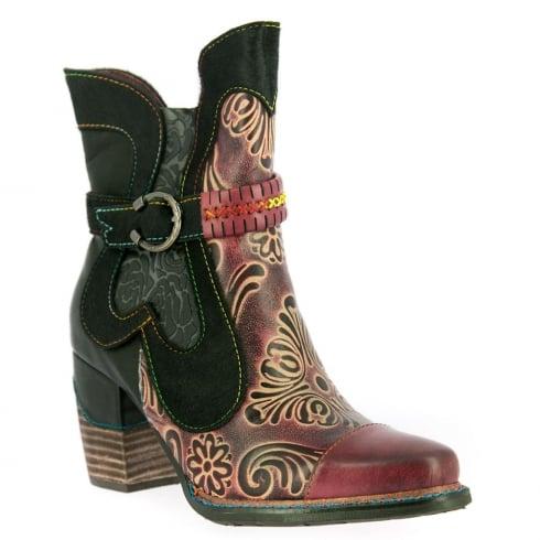 Laura Vita Womens Cendrillon Wine Cowboy Style Boots