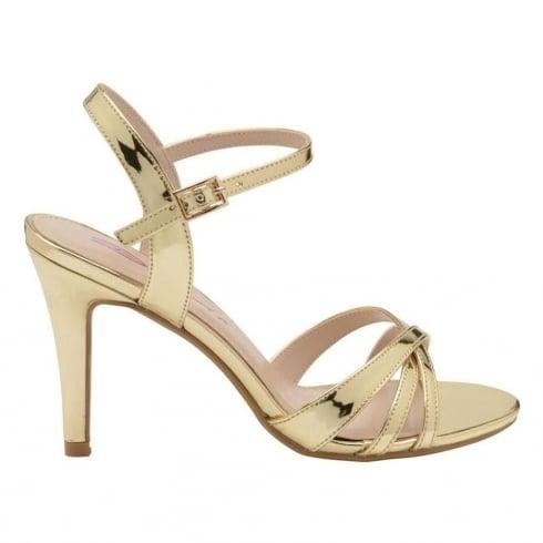 Dolcis Ladies Gold Belinda Stiletto Heeled Open Toe Sandals