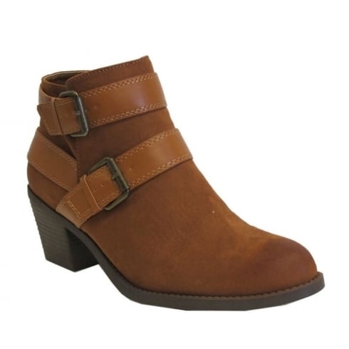 Dolcis Ladies Quincy Tan Ankle Boots
