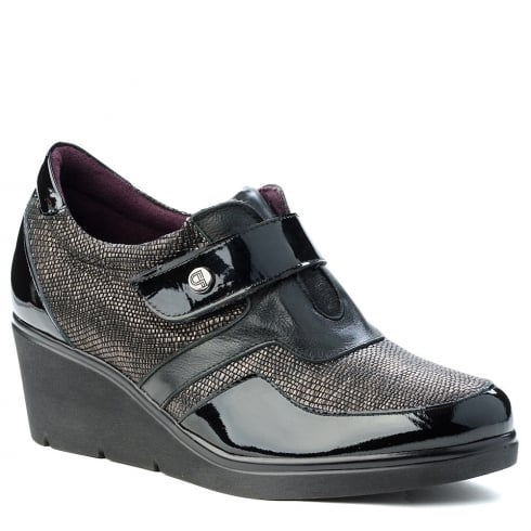 Pitillos Womens Black Comfortable Wedge