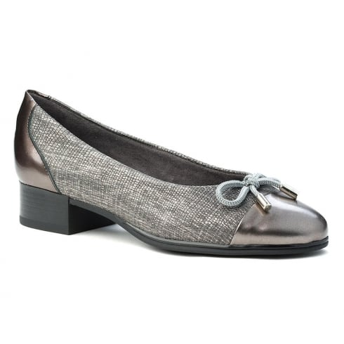 Pitillos Womens Grey Comfortable Flat Ballerina Pumps
