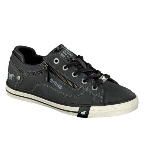 Mustang Ladies Grey Sneaker Shoe 1146-301