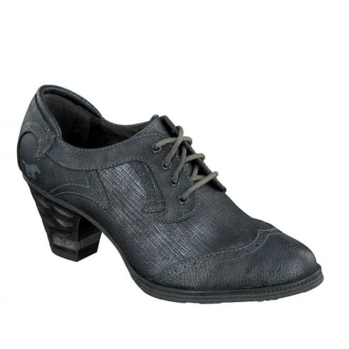 Mustang Ladies Navy Lace Up
