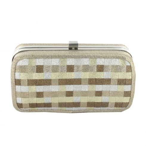 Menbur Persei Gold Glitter Clutch Bag