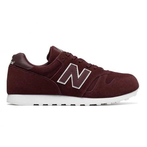 New Balance Mens ML373 Burgundy Suede Sneaker
