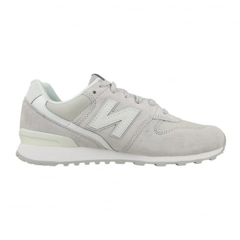 New Balance WR996 Womens White Suede Sneakers