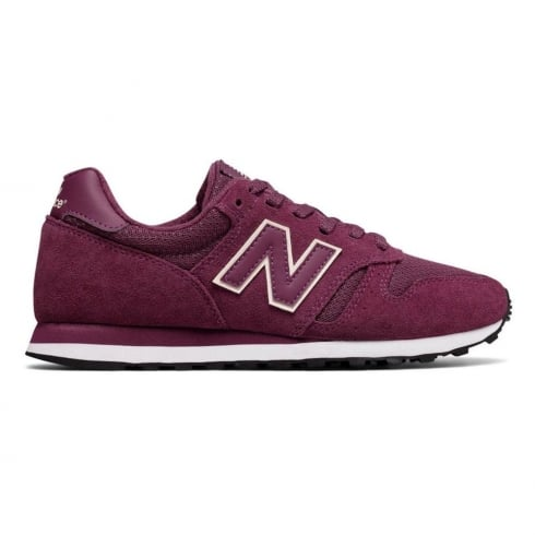 New Balance Classic WL373 Womens Purple Suede Running Sneakers