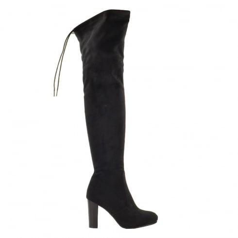 Fabulous Fabs Faux Suede Over Knee High Heel Boots