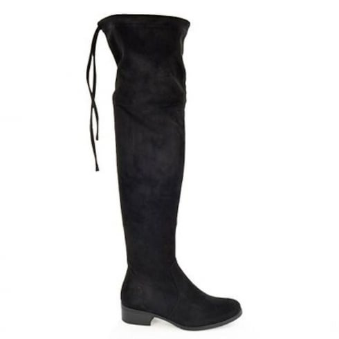 Fabulous Fabs Faux Suede Over Knee Flat Boots