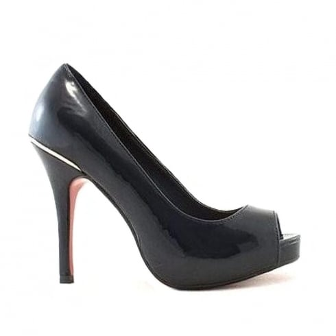 Kate Appleby Devon Navy Patent Peep Toe Platform Court