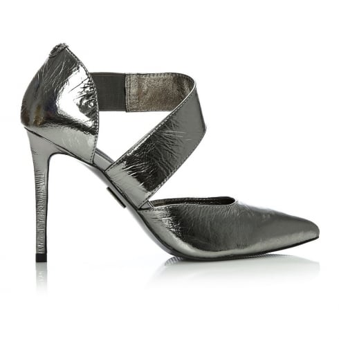 Moda In Pelle Diane Pewter Grey Court Shoe