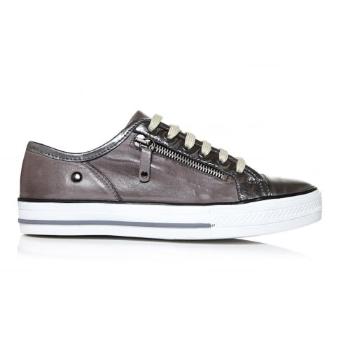 Moda In Pelle Fianntas Lace Up Trainers - Grey