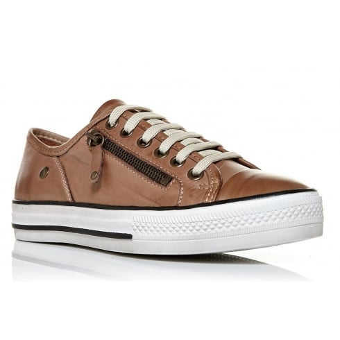Moda In Pelle Fianntas Lace Up Trainers - Tan