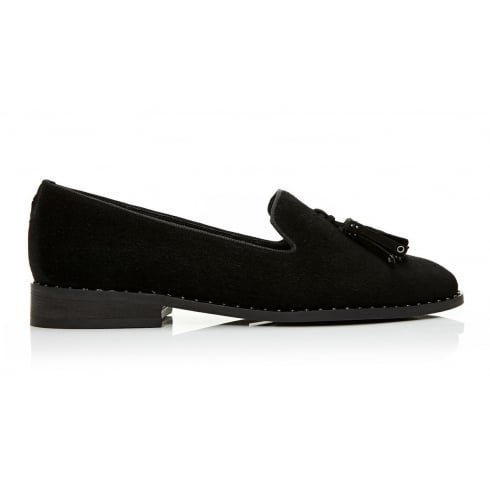 Moda In Pelle Bryoni Black Suede Loafer