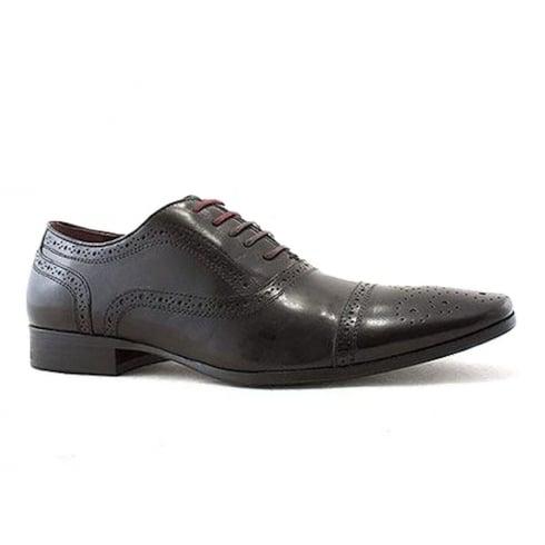 Escape Shoes Escape Mens Bostonic Brogue Black Leather Shoes