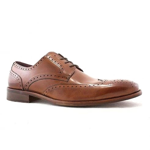 Escape Mens Marrow Brogue Brandy Leather Shoes