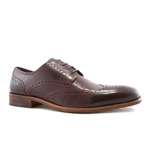 Escape Shoes Escape Mens Marrow Brogue Bordo Leather Shoes